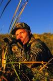 告诉鸭子猎人 免版税库存照片