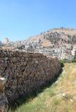 告诉巴拉塔树胶考古学站点, Shechem 免版税库存照片