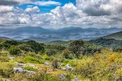 周围的山风景在圣路易斯波托西州 免版税库存照片