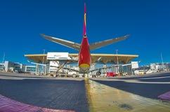 周年会议飞行海南航空10年飞行到机场Pulokovo 俄国 圣彼德堡 7月 库存图片