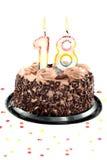 周年纪念生日第十八 库存图片