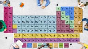 周期表化工化学Mendeleev概念 库存图片