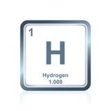 从周期表的化学元素氢 皇族释放例证