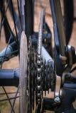 周期,链子,轮胎,轮幅,齿轮 免版税库存照片