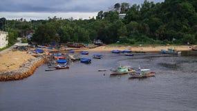 周末在瓜拉Dungun 免版税库存照片