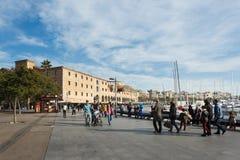 周末在巴塞罗那 库存图片