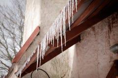 周末春天冰柱 库存照片