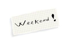 周末!手文字文本。 库存照片