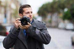周道的摄影师街道 免版税库存图片