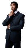 周道非洲的生意人 免版税图库摄影