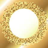周年卡片的金黄背景 免版税库存照片