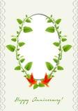 周年卡片 免版税图库摄影