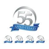 周年圆环商标最高荣誉第51第52第53第54第55 库存例证