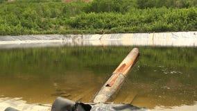 周围的自然的废油坑水环境污染 股票录像