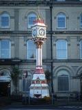 周年纪念时钟在曼岛 图库摄影