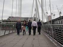 周年纪念桥梁在伦敦 库存照片
