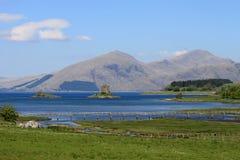 周年纪念桥梁, Appin,城堡潜随猎物者,苏格兰 免版税库存图片
