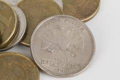 周年纪念现金货币俄语 库存照片