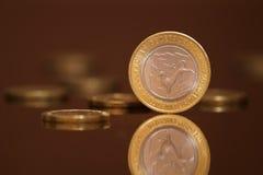 周年纪念现金货币俄语 图库摄影