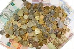 周年纪念现金货币俄语 免版税库存图片
