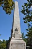 300周年纪念的庆祝纪念碑在詹姆斯敦,弗吉尼亚 库存图片