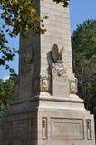 300周年纪念的庆祝纪念碑在詹姆斯敦,弗吉尼亚 免版税库存照片