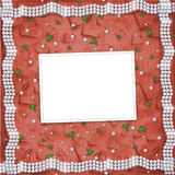 周年纪念的看板卡对圣情人节 免版税库存照片