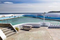 周年纪念水池Lido Penzance 免版税图库摄影