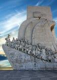 500 1960年周年纪念caravel庆祝死亡发现亨利开始的里斯本纪念碑浏览器葡萄牙被塑造对是年 图库摄影
