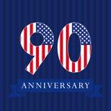 周年90美国旗子略写法 库存照片