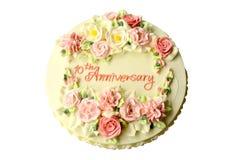 周年蛋糕十年 免版税库存照片