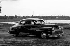 呵叻,泰国- 6月13 :葡萄酒汽车Desoto是a 免版税库存图片