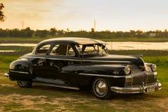 呵叻,泰国- 6月13 :葡萄酒汽车Desoto是a 库存图片