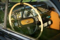 呵叻,泰国- 6月13 :葡萄酒汽车Desoto是a 免版税库存照片