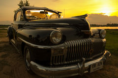 呵叻,泰国- 6月13 :葡萄酒汽车Desoto是a 免版税图库摄影