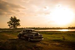 呵叻,泰国- 6月13 :Desoto减速火箭的葡萄酒汽车 库存图片