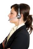 呼叫中心女性运算符 库存图片