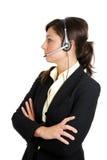 呼叫中心女性运算符 图库摄影