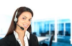 呼叫中心技术支持 免版税图库摄影