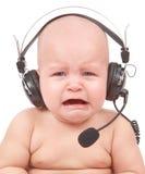 呼叫中心有代表性的吼声 免版税库存图片