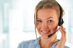 呼叫中心运算符 客户支持 帮助台 免版税库存图片