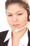 呼叫中心运算符 免版税库存图片