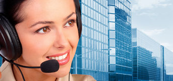呼叫中心运算符 免版税图库摄影