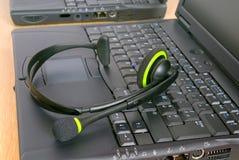 呼叫中心齿轮技术支持 免版税图库摄影