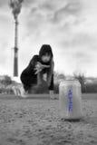 呼吸新鲜空气的干渴 免版税图库摄影
