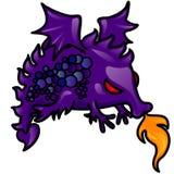 呼吸的龙火紫色 向量例证