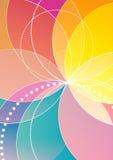 呼吸运动记录器彩虹背景 向量例证