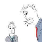呼喊在雇员的恼怒的上司 向量例证