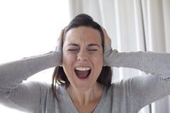 呼喊的妇女 免版税库存照片