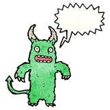 呼喊的妖怪动画片 免版税库存图片